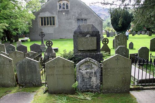 Grasmere Parish Churchyard where William Wordsworth lies buried